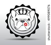 dog vector breed cute pet... | Shutterstock .eps vector #499089076