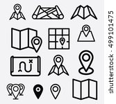 maps pin icon. navigation icons ... | Shutterstock .eps vector #499101475