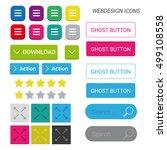 webdesign icons  hamburger menu ... | Shutterstock .eps vector #499108558