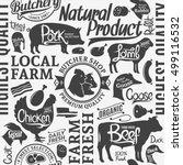 typographic vector butchery... | Shutterstock .eps vector #499116532