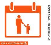 father calendar day icon.... | Shutterstock .eps vector #499118206