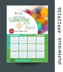 calendar 2017. template of... | Shutterstock .eps vector #499119136