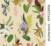 Vector Seamless Vintage Floral...