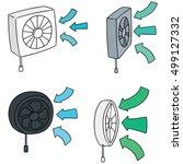 vector set of ventilating fan | Shutterstock .eps vector #499127332