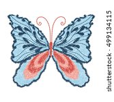 butterfly design for clothing.... | Shutterstock .eps vector #499134115