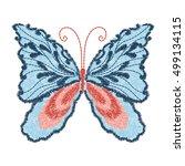 butterfly design for clothing.... | Shutterstock .eps vector #499134115