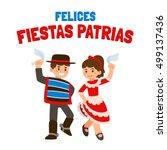 felices fiestas patrias ... | Shutterstock . vector #499137436