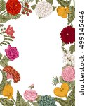 bouquet of flowers. wedding...   Shutterstock .eps vector #499145446