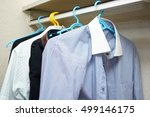 business clothes in the closet | Shutterstock . vector #499146175