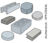 vector set of concrete... | Shutterstock .eps vector #499150636