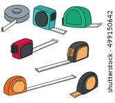 vector set of measuring tape | Shutterstock .eps vector #499150642