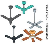 vector set of ceiling fan | Shutterstock .eps vector #499151956