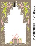 wedding card with space for text | Shutterstock .eps vector #49915279