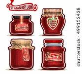 vector logo strawberry jam in... | Shutterstock .eps vector #499153438