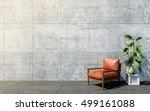 loft living room interior with... | Shutterstock . vector #499161088