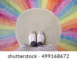 step out of your comfort zone   ... | Shutterstock . vector #499168672