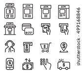 atm icon set in thin line style | Shutterstock .eps vector #499168846