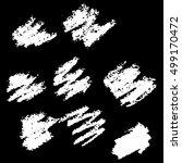vector collection ink hand... | Shutterstock .eps vector #499170472