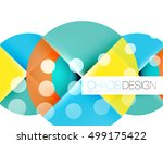 round shapes  vector circle... | Shutterstock .eps vector #499175422