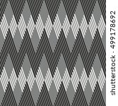 monochrome striped seamless... | Shutterstock .eps vector #499178692