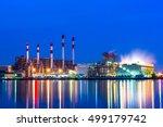 oil refinery in morning | Shutterstock . vector #499179742
