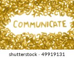 word communicate made of food... | Shutterstock . vector #49919131
