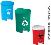 trash red green blue vector | Shutterstock .eps vector #49919197