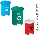 trash red green blue vector | Shutterstock .eps vector #49919197