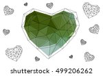 green  yellow heart isolated on ... | Shutterstock .eps vector #499206262