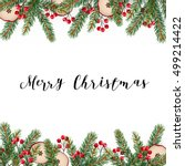 decorative traditional merry... | Shutterstock .eps vector #499214422