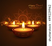 abstarct happy diwali background | Shutterstock .eps vector #499229962