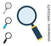 magnifier flat icons set. loupe ... | Shutterstock .eps vector #499231675