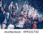 they love having fun. group of... | Shutterstock . vector #499231732