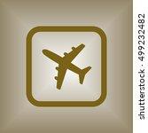 aircraft icon. flat design. | Shutterstock .eps vector #499232482