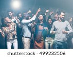 unstoppable party. group of... | Shutterstock . vector #499232506