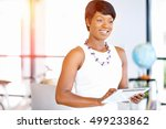 young woman in office using... | Shutterstock . vector #499233862