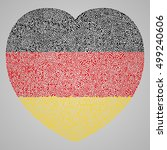 patriotic heart with germany... | Shutterstock .eps vector #499240606