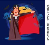 dracula character design open... | Shutterstock .eps vector #499244806