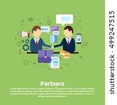 businessman partners shake hand ... | Shutterstock .eps vector #499247515