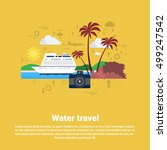 water travel cruise tourism web ... | Shutterstock .eps vector #499247542