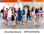 abstract blur people on... | Shutterstock . vector #499249696