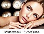 sensual glamour portrait of... | Shutterstock . vector #499251856