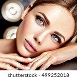 sensual glamour portrait of... | Shutterstock . vector #499252018