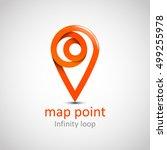 logo location map symbol vector ... | Shutterstock .eps vector #499255978
