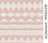 set of white borders isolated... | Shutterstock .eps vector #499261198