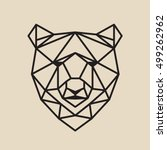stylized polygonal bear head... | Shutterstock .eps vector #499262962