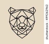 stylized polygonal bear head... | Shutterstock .eps vector #499262962