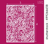 die cut ornamental panel with... | Shutterstock .eps vector #499266658