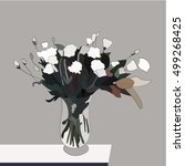 a bouquet of white flowers | Shutterstock .eps vector #499268425