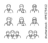 business people line icon set... | Shutterstock .eps vector #499275412